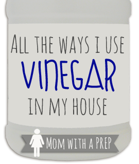 There are big lists of a million ways that you can use vinegar, but I share how I use vinegar in my household on an everyday basis.