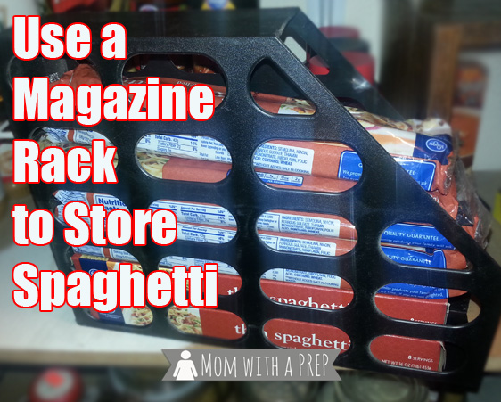 An Amazing Hack to Store and Organize Your Spaghetti Noodles in the Pantry for Food Storage