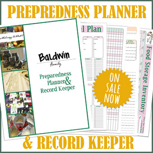 Preparedness Planner & Record Keeper – Personalize Your Planner!