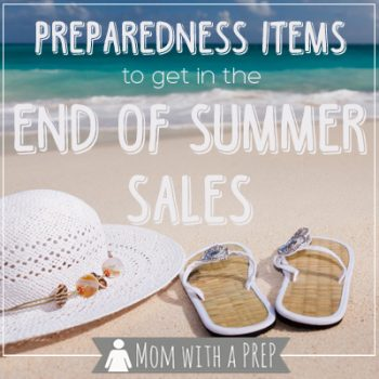 Summer's coming to an end and stores are putting all of their summer items on clearance. What should I be stocking up on for my family's emergency supplies?
