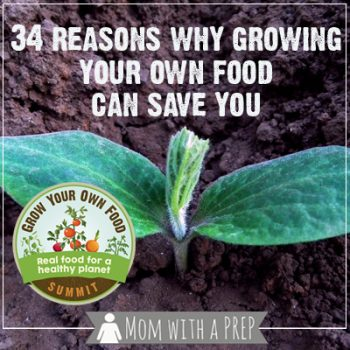 Mom with a PREP | 34 reasons why growing your own food can save you… and the world! #GrowYourOwnFoodSummit
