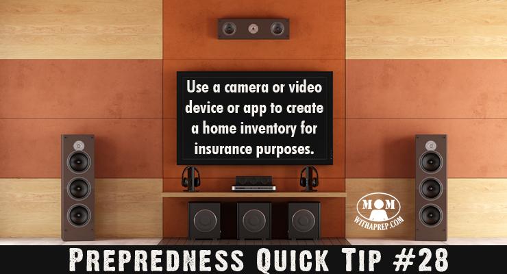 Preparedness Quick Tip #28: Create a Home Inventory - Mom ...