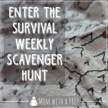 Enter the Survival Weekly Scavenger Hunt @ Mom with a PREP. Win one of 3 great prize packs. Ends July 13. Get searching!
