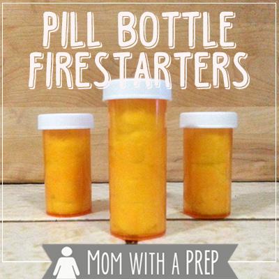 DIY Pill Bottle Firestarters