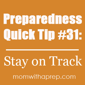 Preparedness Quick Tip #31: Stay on Track with a Calendar @ Mom with a PREP