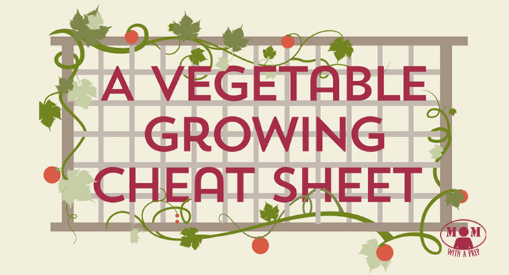 Mom with a PREP | A vegetable growing / planting cheat sheet.