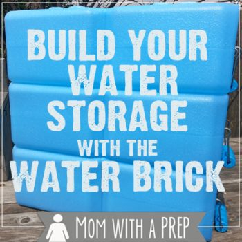 Mom with a PREP | Build Your Water Storage with a Water Brick. A safe alternative to soda bottles and milk jugs for long term water storage.