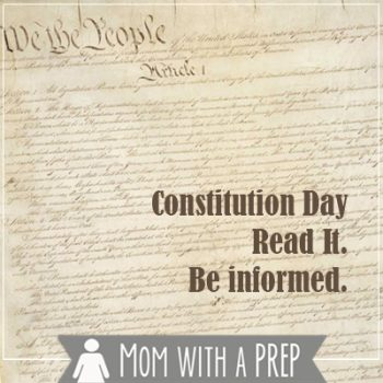 Constituion Day - use today to read the Constituion of the United States and be informed.