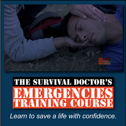 Do you feel confident enough to walk up to a medical emergency and assess the situation well enough that you can apply a tourniquet, perform CPR correctly or even help with a chest wound? The Survival Doctor's Emergencies Training Course will give you the confidence to do just that. Help learn to save a life. It's really worth it.