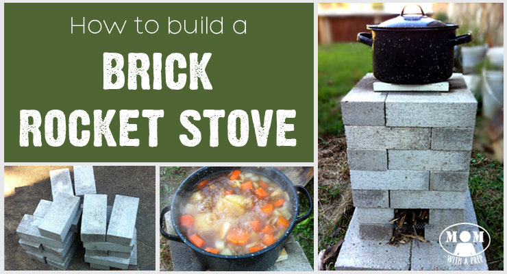 Mom with a PREP - Building a Brick Rocket Stove - Plans