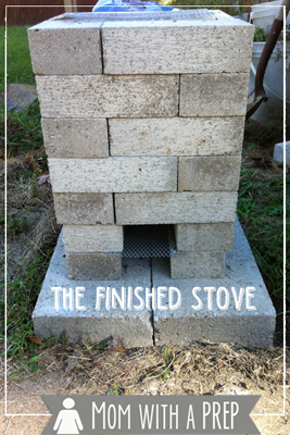 Build a brick rocket stove mom with a prep for Brick rocket stove plans