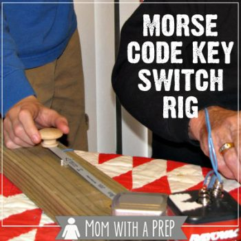Wanting to learn Morse Code with the kids for your HAM license? Create your own Morse Code Key Switch Rig (Practice Oscillator) along with Mom with a PREP
