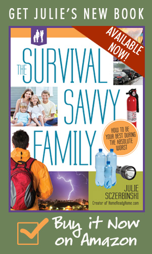 """Do you want to prepare your family for  emergencies but are put off by the """"survival"""" chat? Try out HomeReadyHome.com's new book, the Survival Savvy Family""""!"""