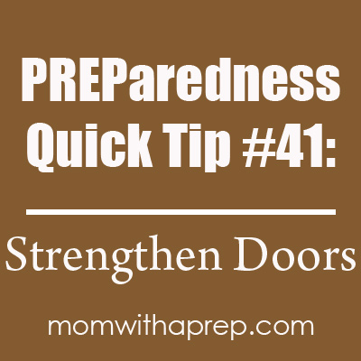 One of the easiest and quickest ways to protect your home is to strengthen your front door. Find out how with a video on Momwithaprep.com