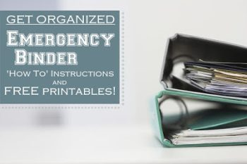 Emergency binder printables