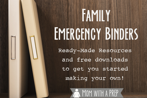 Do you have a Family Emergency Binder at home? Do you always mean to put one together but just haven't had time? Here's a resource to find an emergency binder just for you that you can put together quickly!