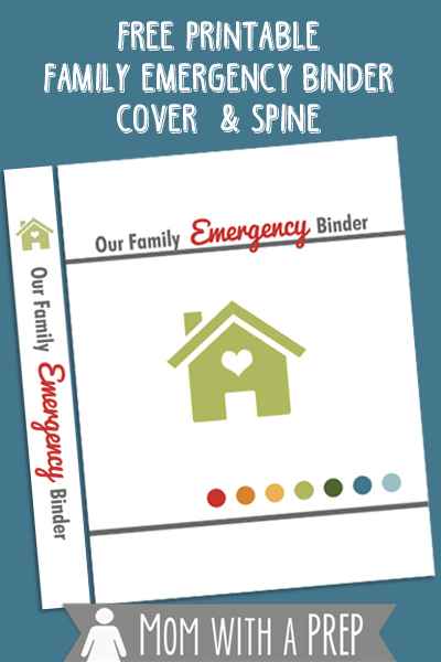 Free Family Emergency Binder Cover Printable Mom With A Prep