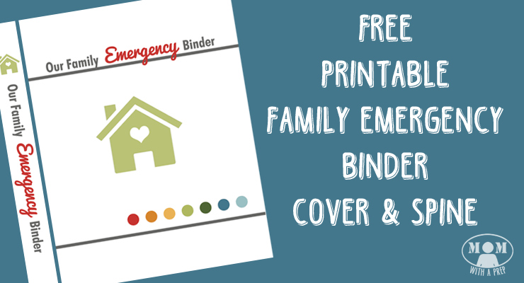 photo about Free Printable Binder Covers and Spines known as Totally free Relatives Crisis Binder Include Printable - Mother with a PREP