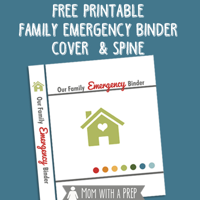 photograph relating to Free Printable Binder Covers and Spines called Absolutely free Loved ones Crisis Binder Go over Printable - Mother with a PREP