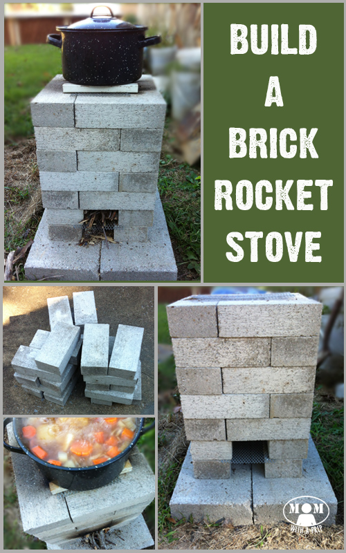 Build a brick rocket stove mom with a prep for Brick jet stove