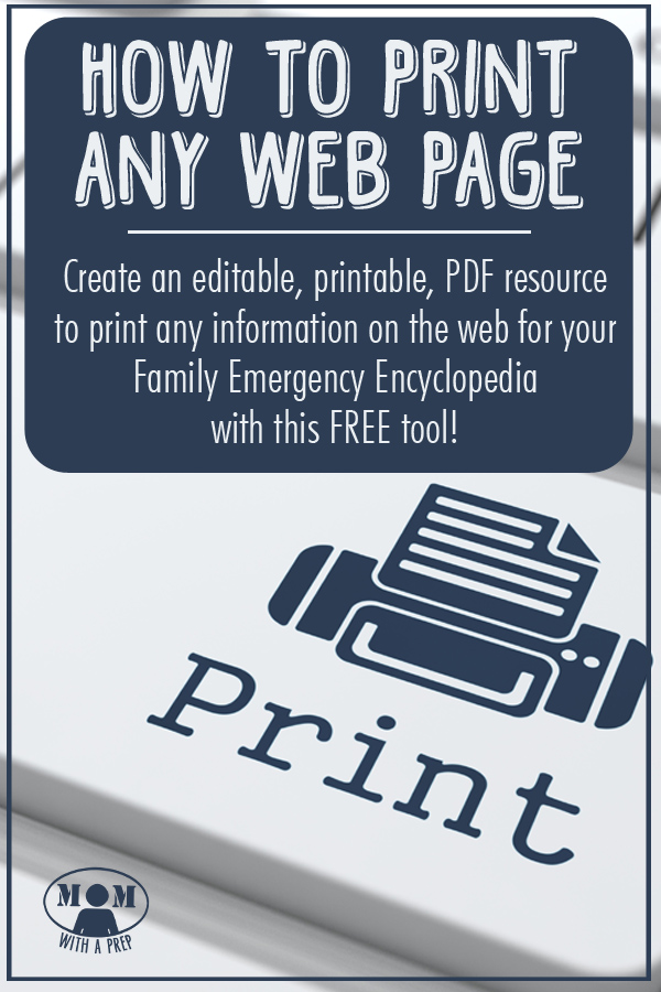 Wish you could print out a page of information to add to your Family Emergency Binder....but want to edit it? Let me show you how to create a printable PDF resource page!