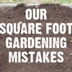 Square Foot Gardening - our favorite method of managing a garden in a small suburban landscape. But we did make a few mistakes along the way. Learn from our mistakes before you tackle your garden! - companion planting chart