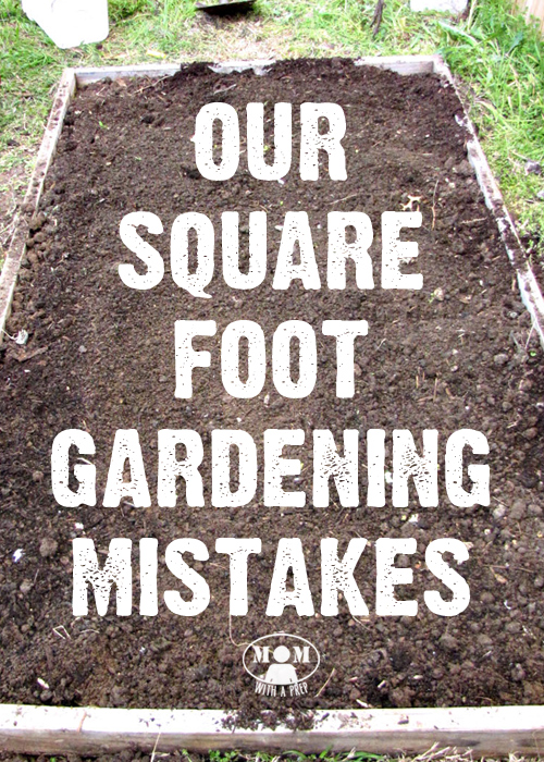 Square Foot Gardening Mistakes