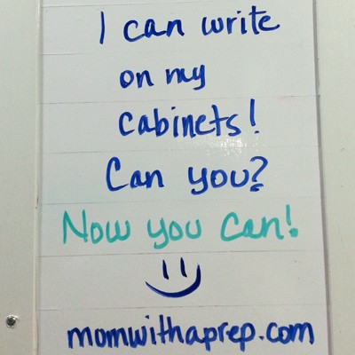 I Can Keep Myself Organized with this Cabinet Door Hack! And I won't get in trouble with my mom for writing on the furniture! @momwithaprep.com