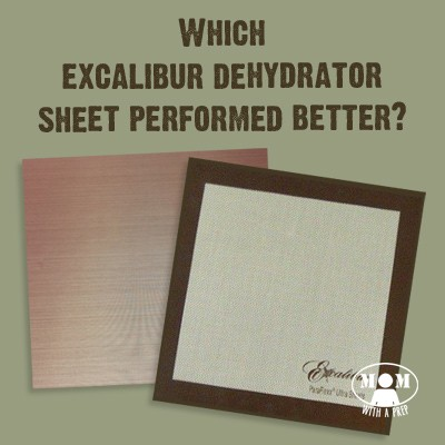 What's the real difference between the bargain dehydator sheet and the name brand sheet for the Excalibur Dehydrator? I put them to the test to find out for you! Find out which one I prefer at Momwithaprep.com