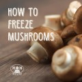 Think you can't freeze mushrooms? Thing again! You can do it and extend the possibilities of your food storage! I'll show you how at Momwithaprep.com