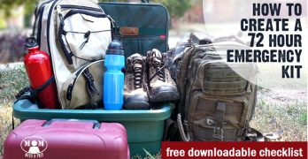 Create a 72 Hour Emergency Kit – FREE DOWNLOADBLE CHECKLIST