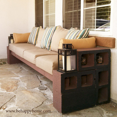 25+ DIY Cinder Block Projects for Your Home @ Momwithaprep.com | Project from BeHappyBMe