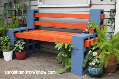 25+ DIY Cinder Block Projects for Your Home @ Momwithaprep.com | Project from Sarah Hamilton @ eHow