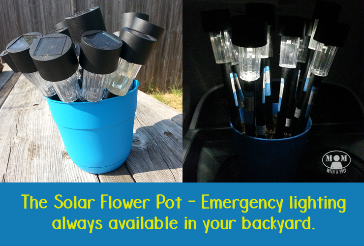 Mom with a PREP & The Solar Light FLower Pot for Emergency Lighting - Mom with ...