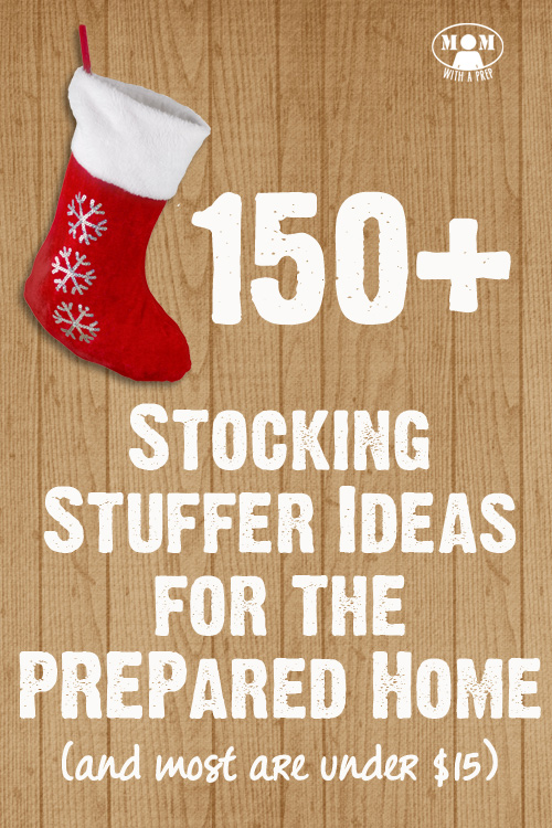 Here are awesome stocking stuffer ideas that are more than cheap dollar store gadgets and actually help my family and friends become more PREPared! 150+ Stocking Stuffer Ideas for the PREPared Home