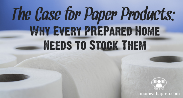 If you're trying to go green in your home - AWESOME! But don't forget that paper products have a great use in the PREPared home and you don't want to be without them!