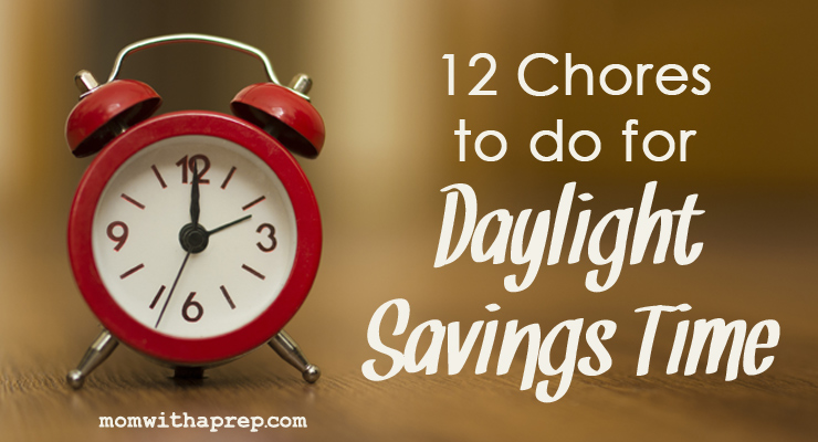 Daylight Savings Time, whether it's beginning or ending, is a great time to track those twice a month chores you need to take care of! Get the checklist here!