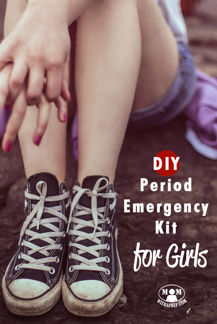 UGH! It happened ... at school ... but thank goodness you had your own DIY Period Emergency kit to help out!!