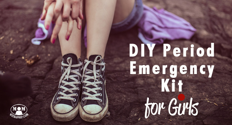 UGH! It happened ... at school ... but thank goodness you had your own DIY Period Emergency kit to help out! Don't have one? Check out the list here ...