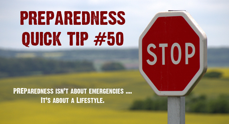 Stop thinking about PREParedness in terms of a single emergency that your family may face, but in terms of a PREPared lifestyle that allows your family to weather any storm that comes their way, as well as relying less on outside agencies to direct your path.