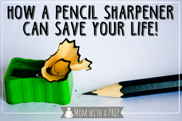 This seems a pretty tall order for a mere back to school supply piece of plastic, but the humble pencil sharpener really can save your life.