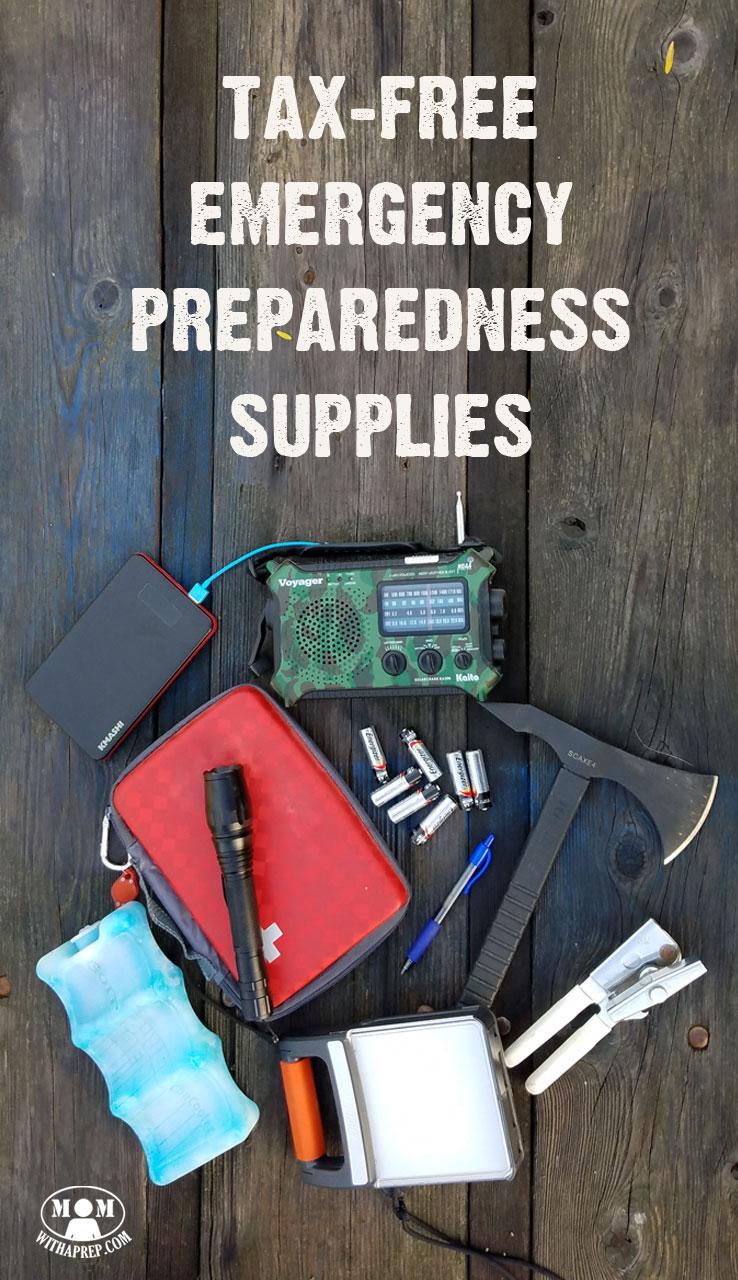 Tax Free Emergency Preparedness Supplies - Here's how ...