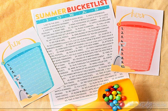 FREE PRINTABLE FROM SISTERS -- Survive your summer by take your summer bucket list for kids up a notch this year - preparedness style!