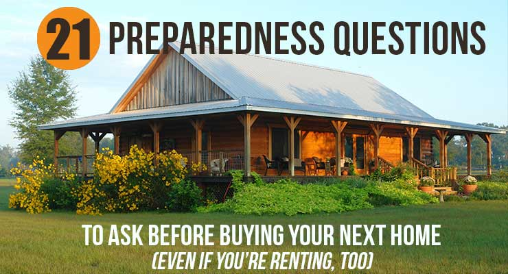 20 Preparedness Questions to ask before buying a house