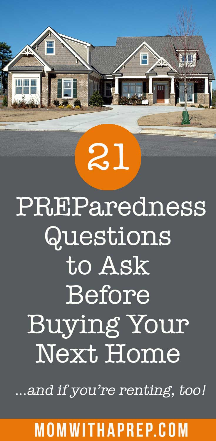 Buying a house? Remember these important 20 questions to ask before buying your next home - focus on preparedness ! #buyingahome #housebuying #realestatequestionstoask #momwithaprep
