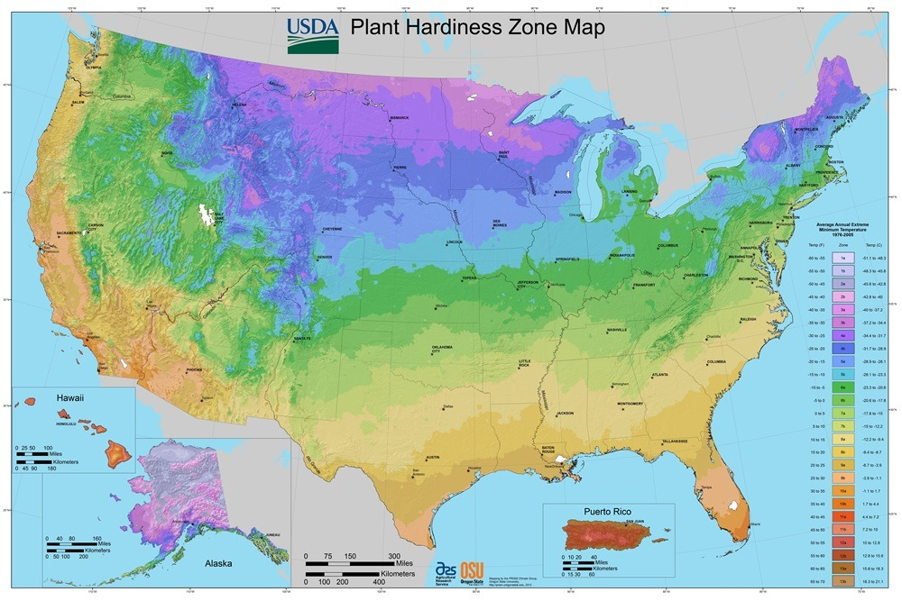 2012 USDA Plant Hardiness Zone Map