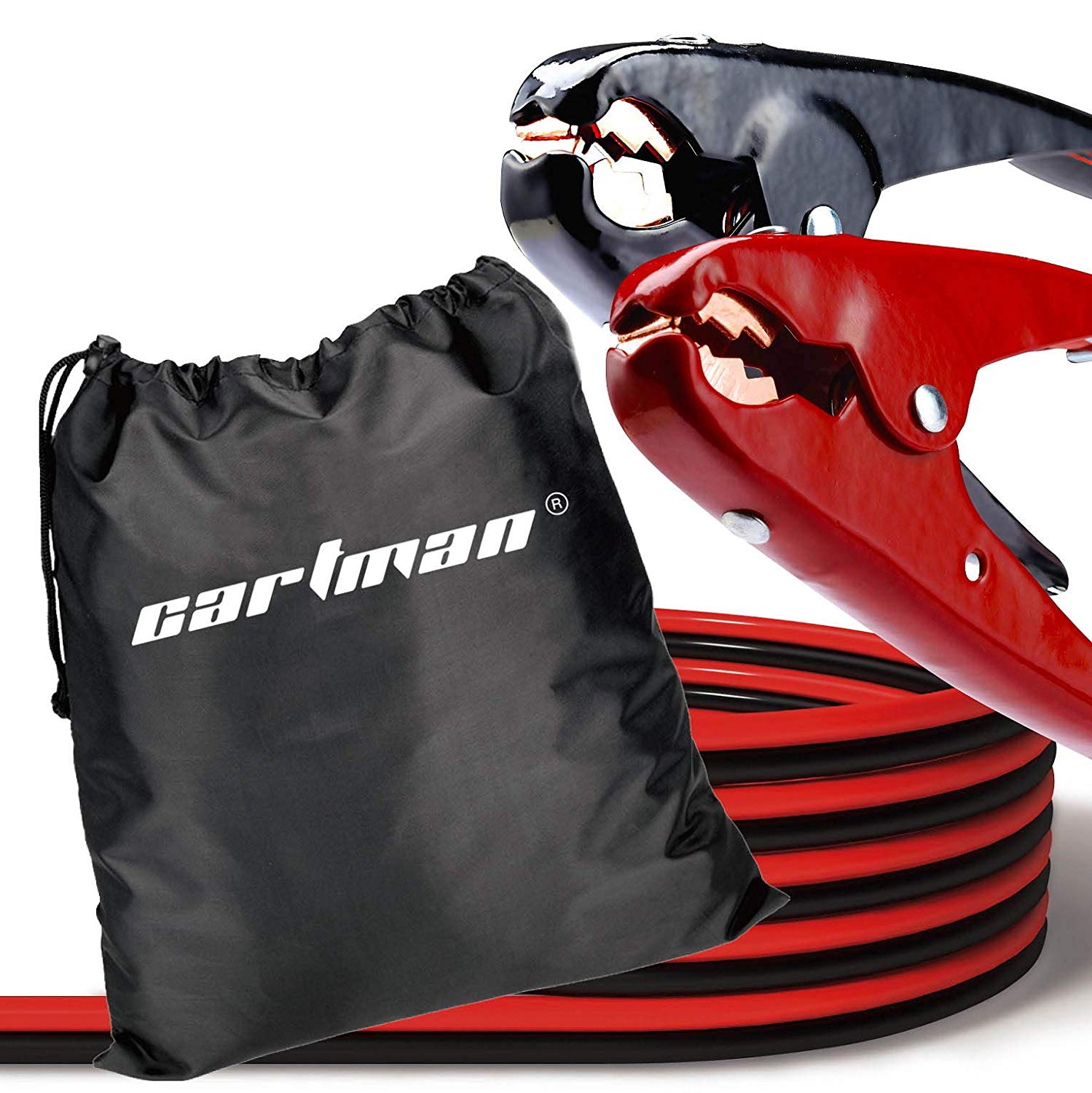 CARTMAN Heavy Duty Booster Cables Jump Cable with Carry Bag