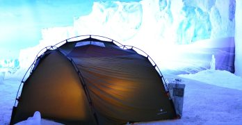 Survival Tent at the middle of ice bergs