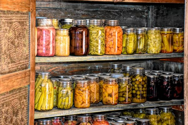 Canned goods in a jar